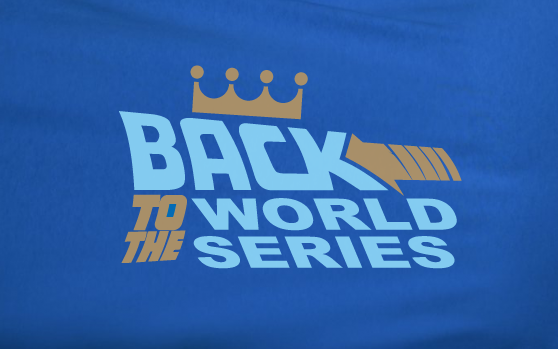 Blue Custom 2 Color Back to the Future world series Kansas City KC Royals Fan Tee Tshirt T-Shirt