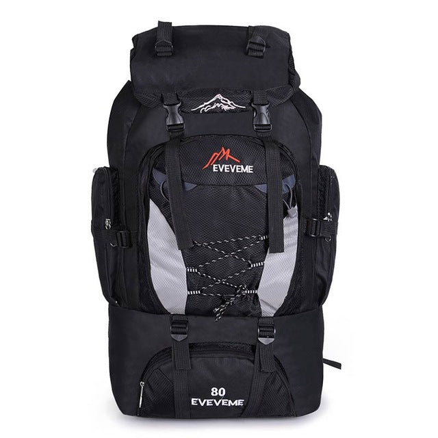 f0f3f568027f Backpacks 80L Camping Hiking Backpack Bag Outdoor Sports Bags Travel  Waterproof Shoulder Men Climbing Fishing Rucksack