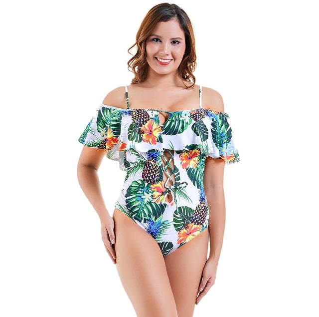 87457aed35506 Bather One Piece Indoor Swimsuit For Women Plus Size Swimwear Female Push  Up Swimming Suit Off