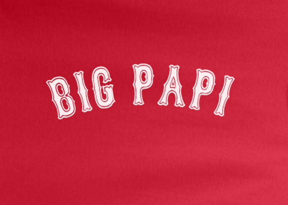 Red Premium Custom 1 Color Big Papi David Ortiz Boston Redsox Baseball Tee Tshirt T-Shirt Funny Humor