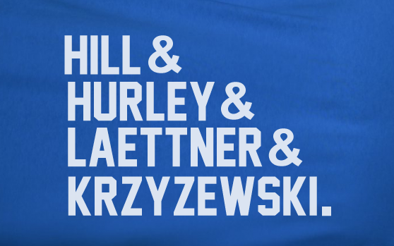Blue Custom 1 Color Duke Blue devils Bluedevils Ampersand Hurley Laettner Hill Tee Tshirt T-Shirt