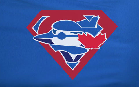 Blue Premium 2 Color Toronto Bluejays Blue Jays Superteam Superman Tee Tshirt T-Shirt Batman