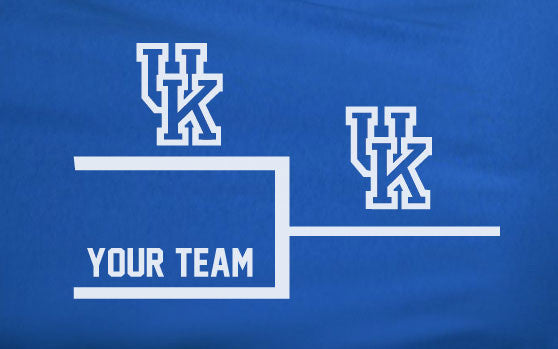 Blue Premium Custom 1 Color University of Kentucky Basketball UK vs World Win Tee Tshirt T-Shirt