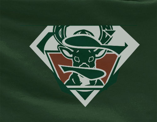 Green Premium Custom 2 Color Milwaukee Bucks Basketball Superteam Superman Tee Tshirt T-Shirt Batman