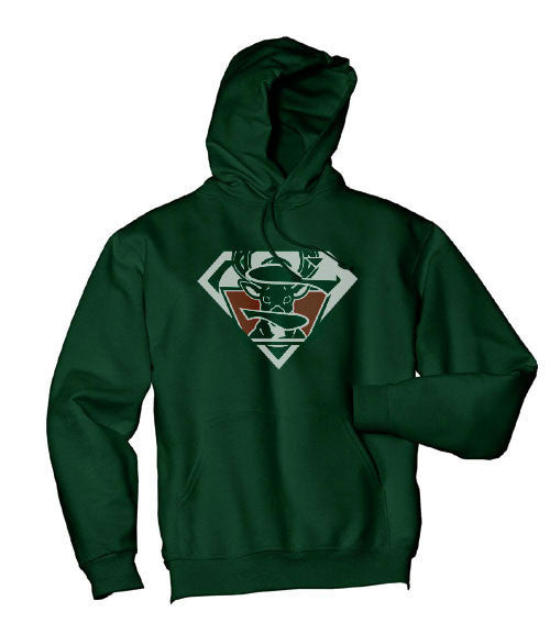 Green Custom 2 Milwaukee Bucks Superfan Superteam Superman Hoodie Hooded Sweatshirt All sizes Ladies Unisex Child Toddler Men