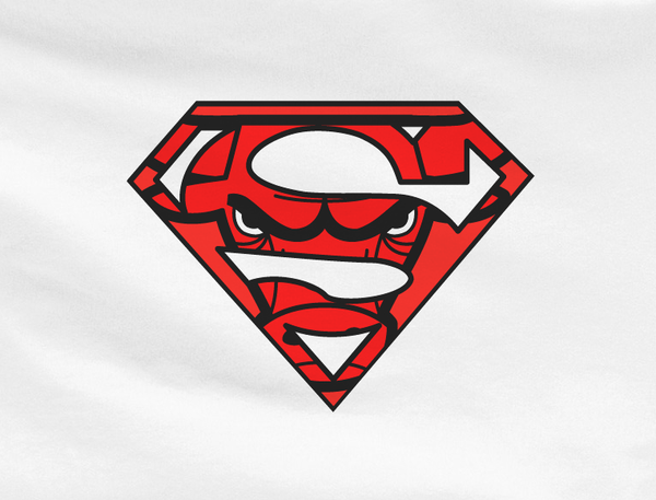 White Premium Chicago Bulls Superteam Superman Tee Tshirt T-Shirt Batman Wonder Woman