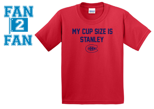 Red My Cup Size is Stanley Stanly Montreal Canadiens Canadians Tee Tshirt T-Shirt Batman