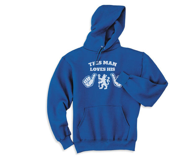 Blue This Girl or Guy Man Loves the Chelsea FS Football Soccer Hoodie Hooded Sweatshirt Unisex Child Ladies