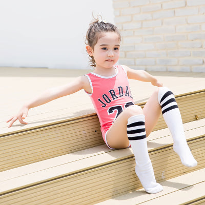 fe5035403b08b ... Child Swimwear Sporty One Piece Boys Girls Swimsuits Kids Bathing Suits  Baby Swimsuit Girl Children Beach ...