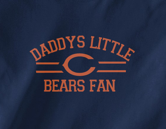 Navy Custom 1 Color Daddys Little Florida Chicago Bears Fan College Football Tee Tshirt T-Shirt
