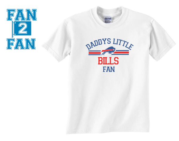 White Custom 2 Color Daddys Little Bufallo Bills Fan Tee Tshirt T-Shirt Toddler Youth