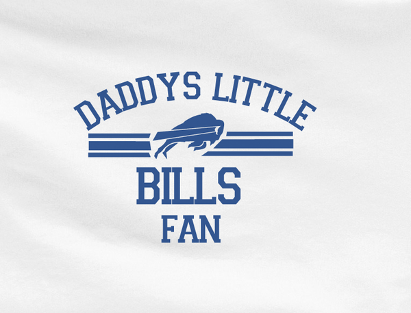 Blue Custom 1 Color Daddys Little Bufallo Bills Fan College Football Tee Tshirt T-Shirt