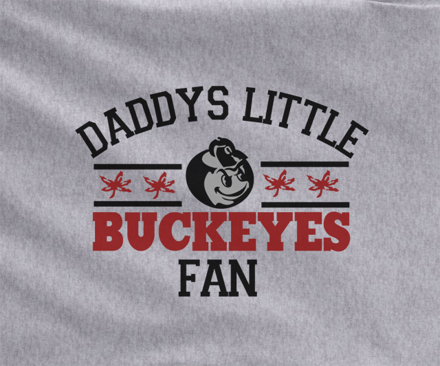 Gray Custom 2 Color Daddys Ohio State Buckeyes Kids Child Tee Tshirt T-Shirt Toddler Youth