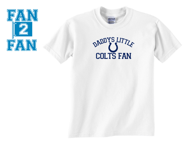 White Custom 1 Color Daddys Little Indianapolis Colts Fan College Football Tee Tshirt T-Shirt