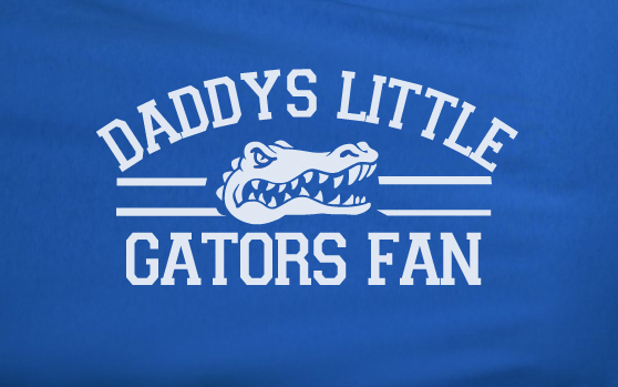 Blue Custom 1 Color Daddys Little Florida Gators Fan College Football Tee Tshirt T-Shirt