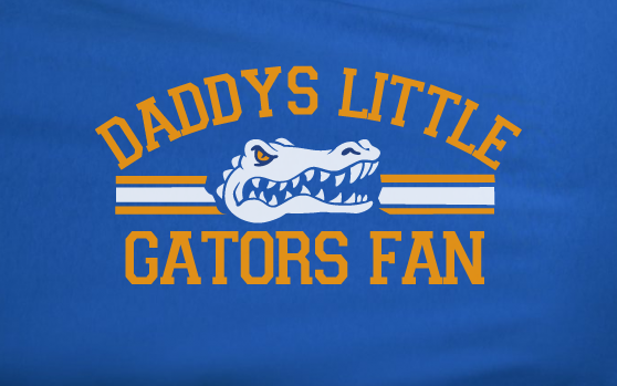 Blue Custom 2 Color Daddys Little Florida Gators Football Tee Tshirt T-Shirt Toddler Youth
