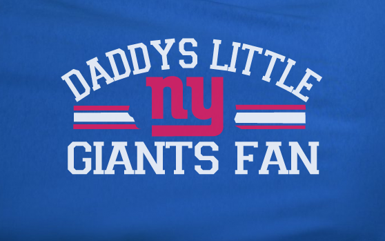 Blue Custom 2 Color Daddys Little NY New York Gians Fan Youth Child Kid toddler Football Tee Tshirt T-Shirt