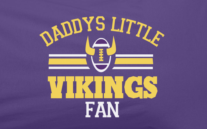 d219a261 Purple Custom 2 Color Daddys Little Minnesota Vikings Fan College Foot –  KO_41_13_(Kickoffshirts.com_Fishing)_2018
