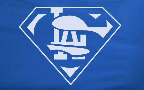 Blue Premium 1 Color LA Los Angeles Dodgers Superteam Superman Tee Tshirt T-Shirt Batman Brooklyn
