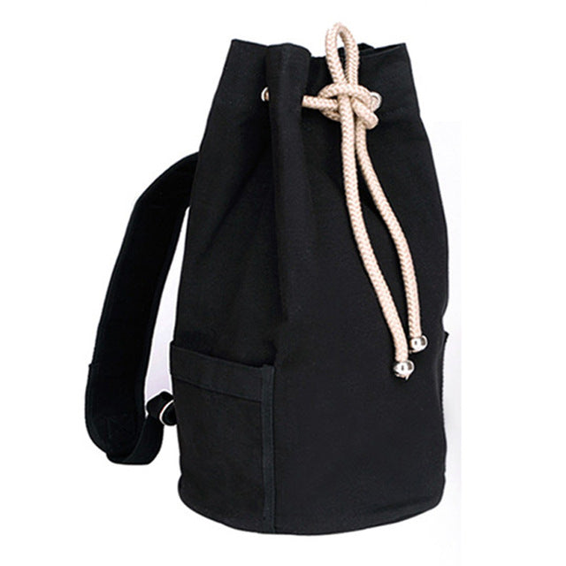 31e4e5fe49b0 Drawstring Canvas Bucket Bags Backpacks for Teenage Boys Men s Outdoors  Sports Football Basketball Storage Cycling Bags