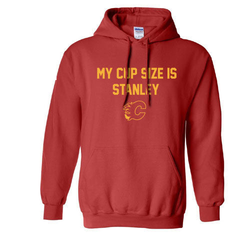 Red My Cup Size is Stanley Calvary Flames Leaves Hoodie Hooded Sweatshirt Ladies Child Toddler Men