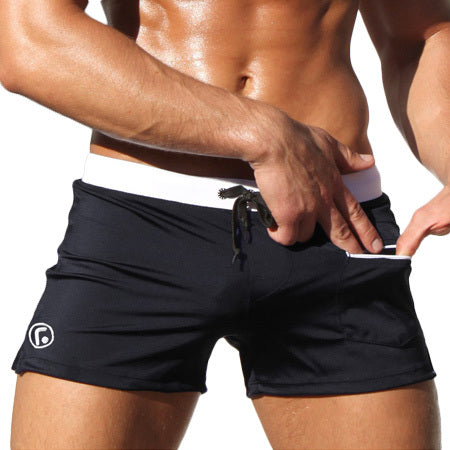 80c45ad26ae GANYANR Brand Gay Men Swimwear Brief Shorts Swimsuit Swimming Trunks Male  Swim Surf Bathing Suit Sexy