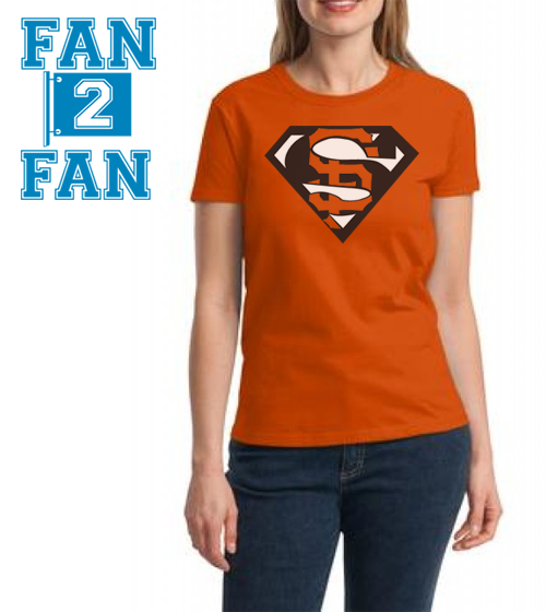 Orange Premium Custom 2 Color SF San Francisco Giants Baseball Superteam Superman Tee Tshirt T-Shirt Batman
