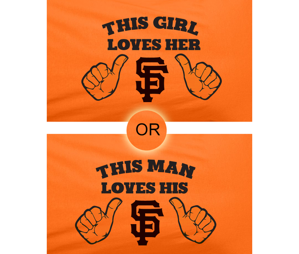 Orange This Girl or Guy Man Loves the SF San Francisco Giants Hockey Hoodie Hooded Sweatshirt Unisex Child Ladies