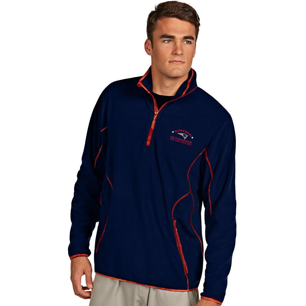 New England Patriots NFL Super Bowl 49 Champions NFL Ice Men's Pullover (Navy/Dark Red) (Medium)
