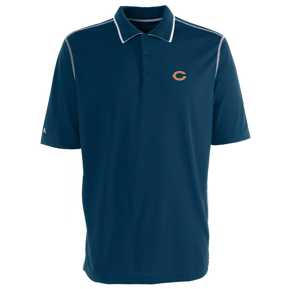 Chicago Bears NFL Fuel Men's Polo Shirt (Navy/White) (Medium)