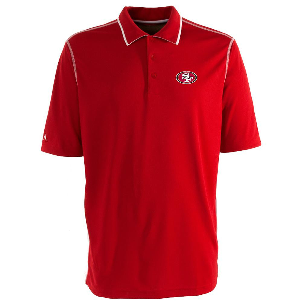 San Francisco 49ers NFL Fuel Men's Polo Shirt (Dark Red/White) (Large)