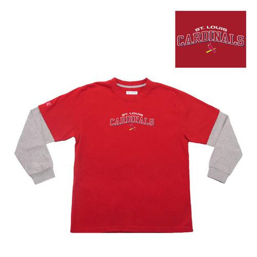 Saint Louis Cardinals MLB Danger Youth Tee (Red) (Large)