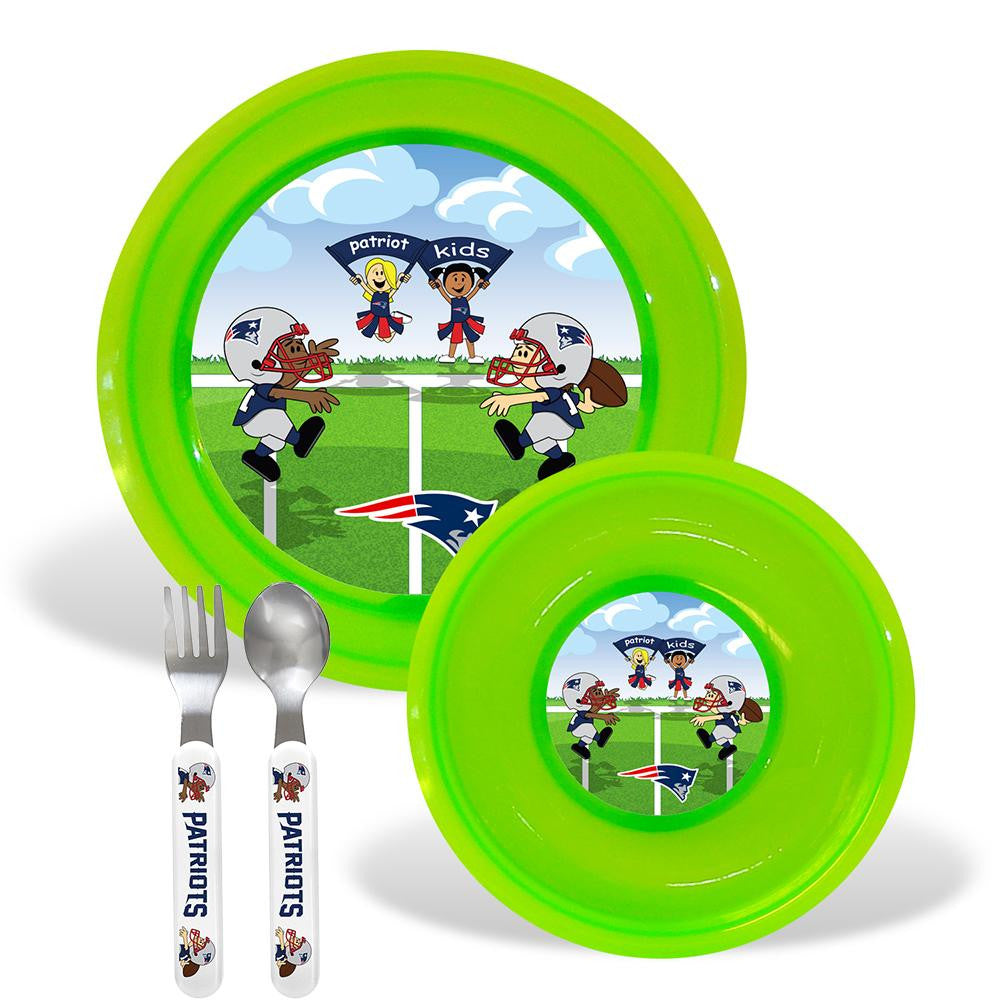 New England Patriots NFL BPA Free Toddler Dining Set (4 Piece)