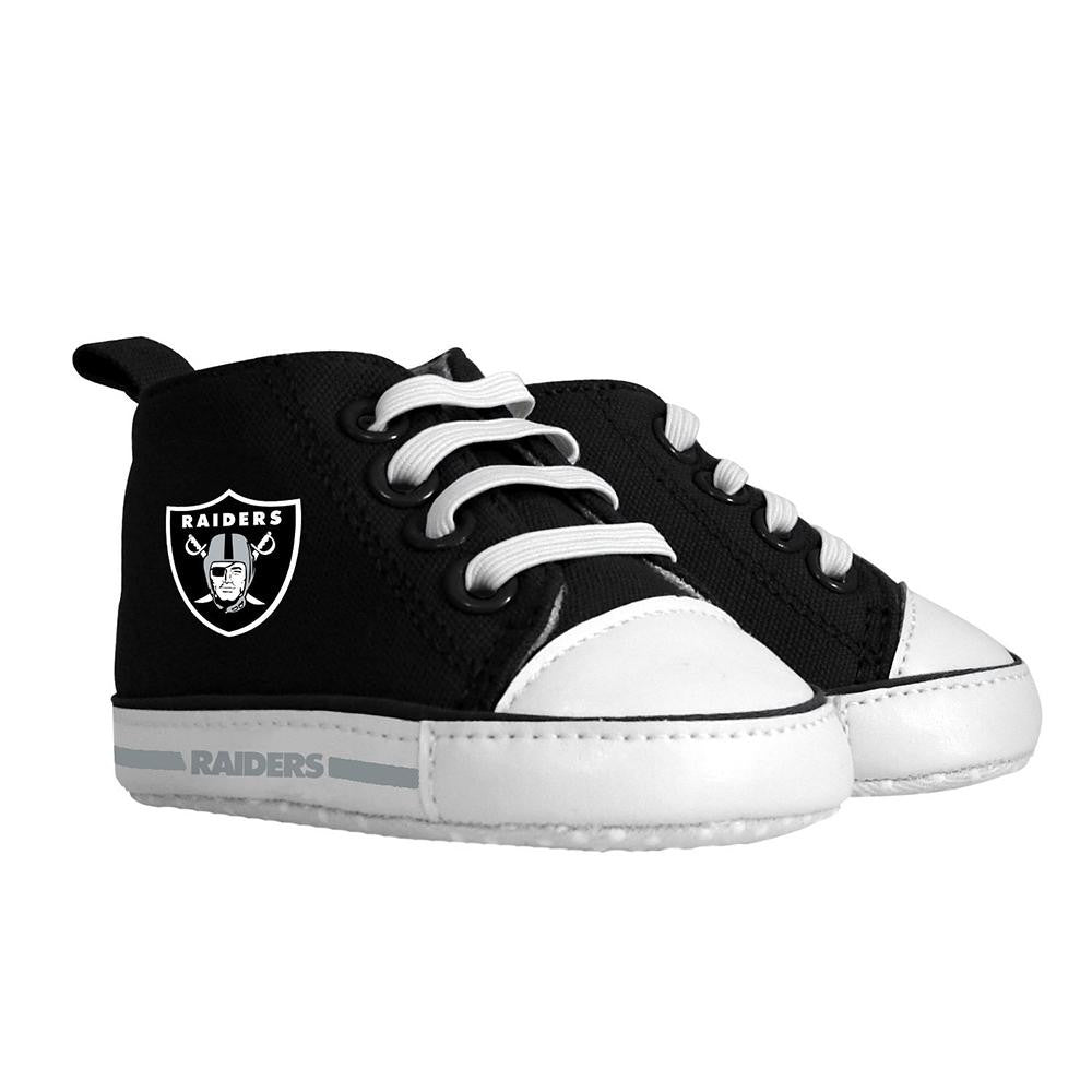 Oakland Raiders NFL Infant High Top Shoes xyz