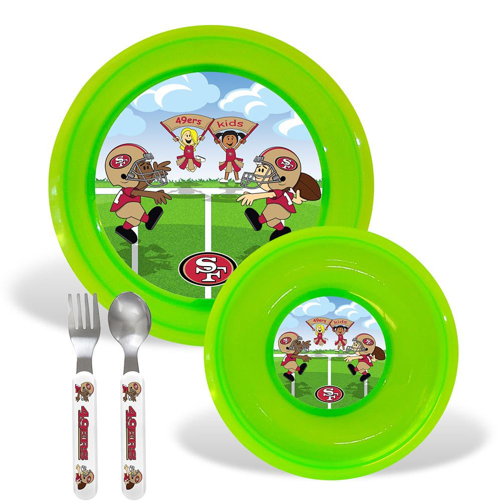 San Francisco 49ers NFL BPA Free Toddler Dining Set (4 Piece)
