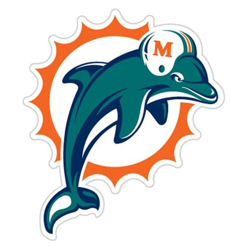 Miami Dolphins NFL Diecut Window Film