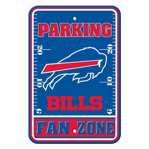 Buffalo Bills NFL Plastic Parking Sign (Fan Zone) (12 x 18)