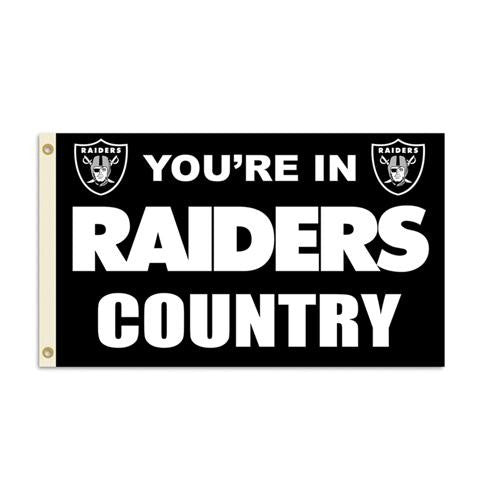 Oakland Raiders NFL You're in Raiders Country 3'x5' Banner Flag
