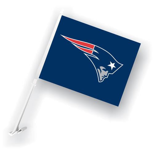 New England Patriots NFL Car Flag with Wall Brackett