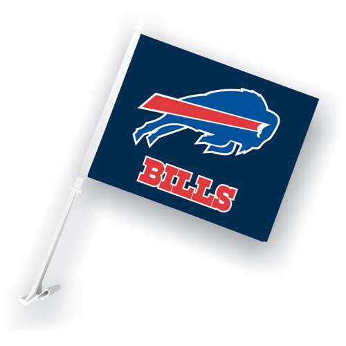 Buffalo Bills NFL Car Flag with Wall Brackett