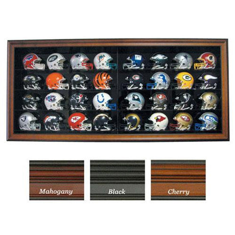 32 Mini Helmet Display, Cabinet Style (No Logo) (Cherry)