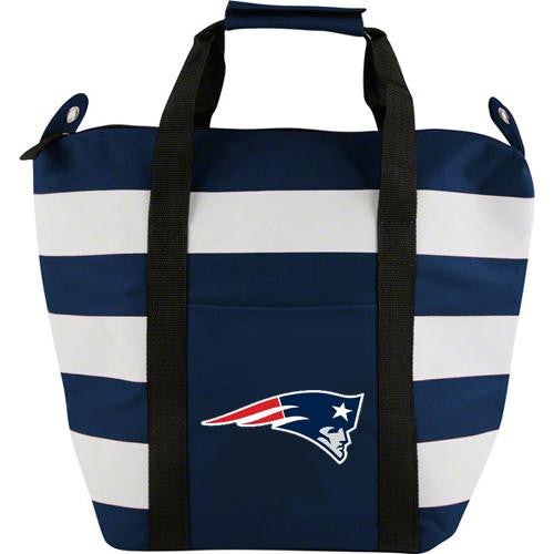 New England Patriots NFL Freeze Striped Insulated Tote Bag
