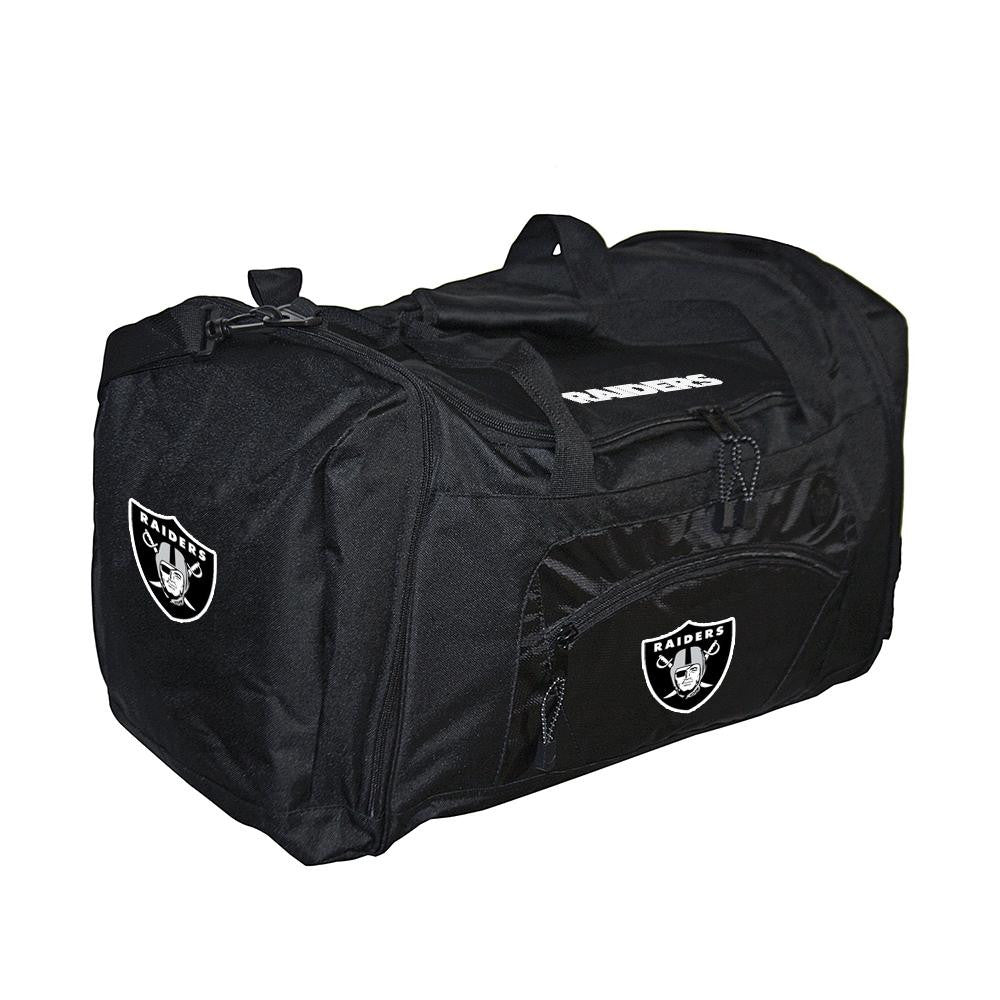 Oakland Raiders NFL Roadblock Duffle Bag (Black) xyz