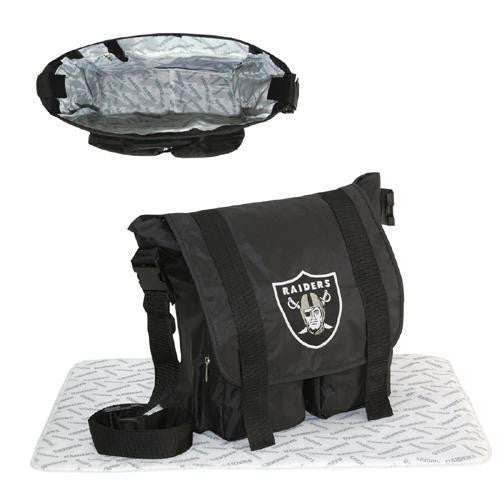 Oakland Raiders NFL Sitter Baby Diaper Bag xyz