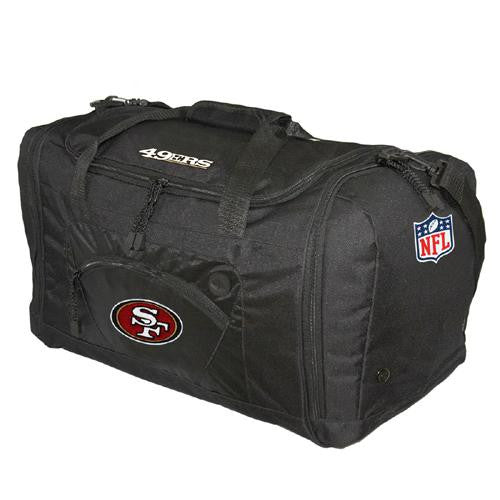 San Francisco 49ers NFL Roadblock Duffle Bag (Black) xyz