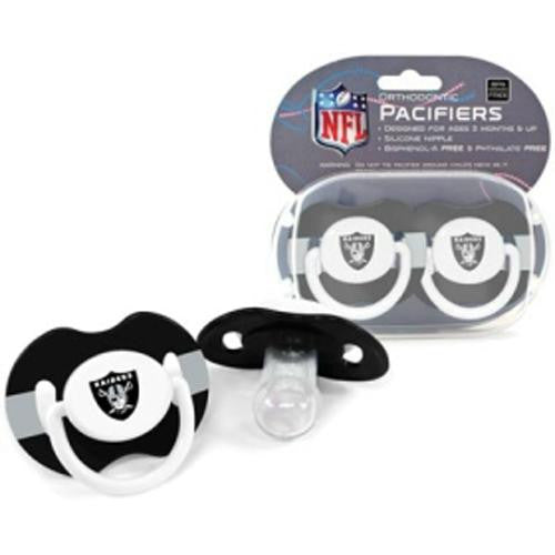 Oakland Raiders NFL Baby Pacifiers (2 Pack)