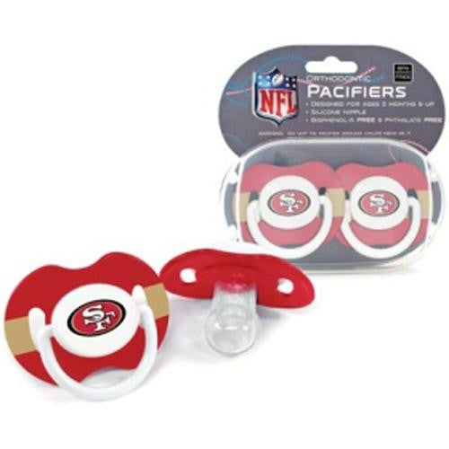 San Francisco 49ers NFL Baby Pacifiers (2 Pack)