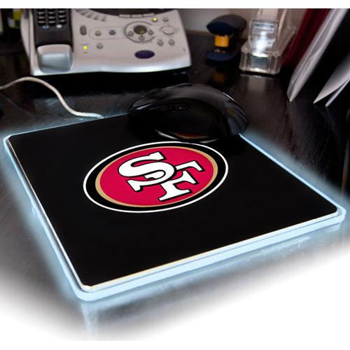 San Francisco 49ers NFL LED Lighted Mouse Pad xyz