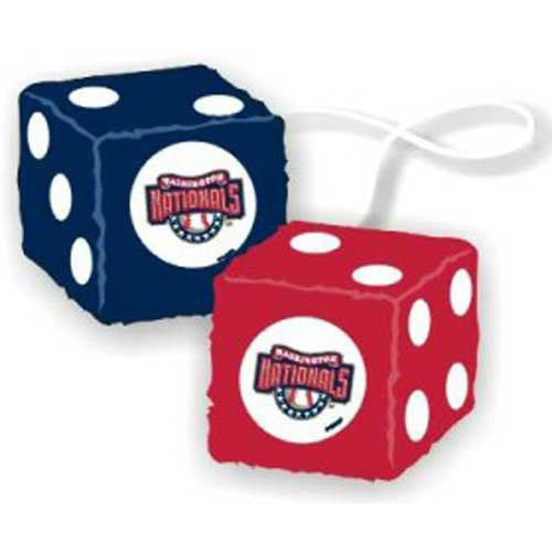 Washington Nationals MLB 3 Car Fuzzy Dice