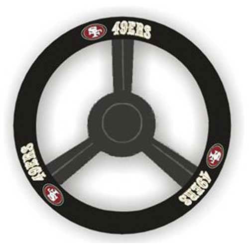 San Francisco 49ers NFL Leather Steering Wheel Cover